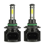 F8 9006 2 PCS 22W 3000LM 6000K Four Side DOB LED Headlight Fog Light Bulbs High Beam Conversion Kit DC 9-32V