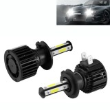 F8 H7 2 PCS 22W 3000LM 6000K Four Side DOB LED Headlight Fog Light Bulbs High Beam Conversion Kit DC 9-32V