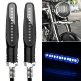 2 PCS D12V / 1W Motorcycle LED Waterproof Side Lights Turn Signal Light (Blue Light)