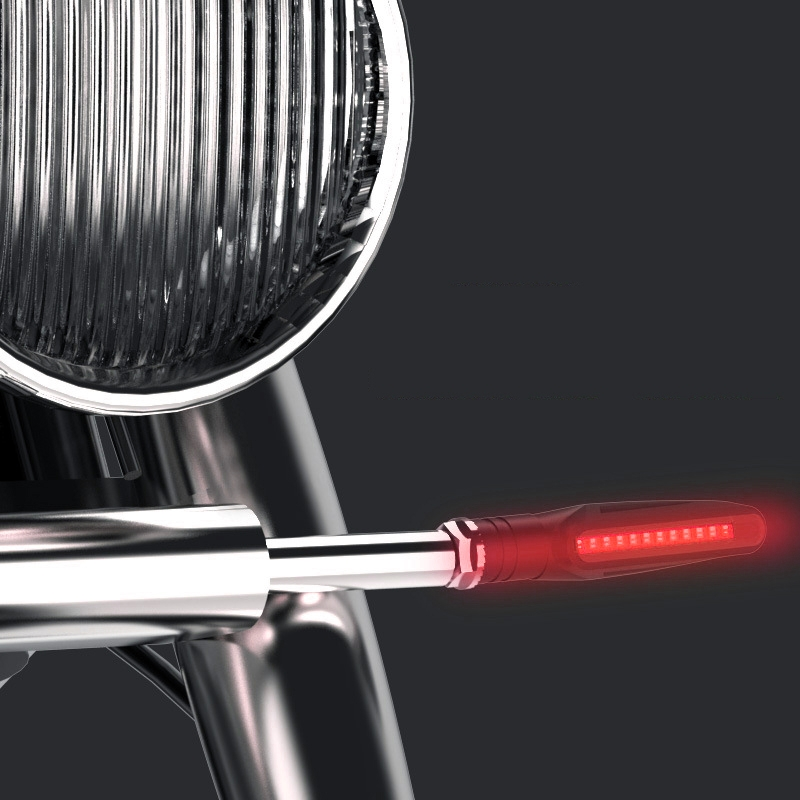 2 PCS D12V / 1W Motorcycle LED Waterproof Dynamic Blinker Side Lights Flowing Water Turn Signal Light (Red Light)