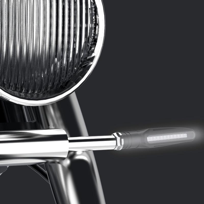 2 PCS D12V / 1W Motorcycle LED Waterproof Dynamic Blinker Side Lights Flowing Water Turn Signal Light (White Light)