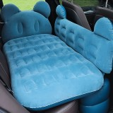 Universal Car Cartoon Travel Inflatable Mattress Air Bed Camping Back Seat Couch with Head Protector + Wide Side Baffle (Blue)