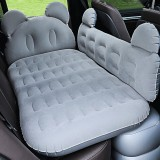 Universal Car Cartoon Travel Inflatable Mattress Air Bed Camping Back Seat Couch with Head Protector + Wide Side Baffle (Light Grey)