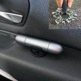 2 in 1 Car Multifunctional Safety Rescue Hammer Life Saving Escape Emergency Hammer Seat Belt Cutter Window Glass Breaker (Grey)
