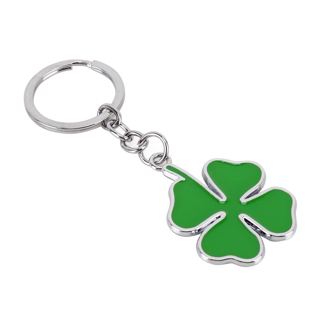 Car Four-leaf Clover Shape Key Ring Metal Keychain