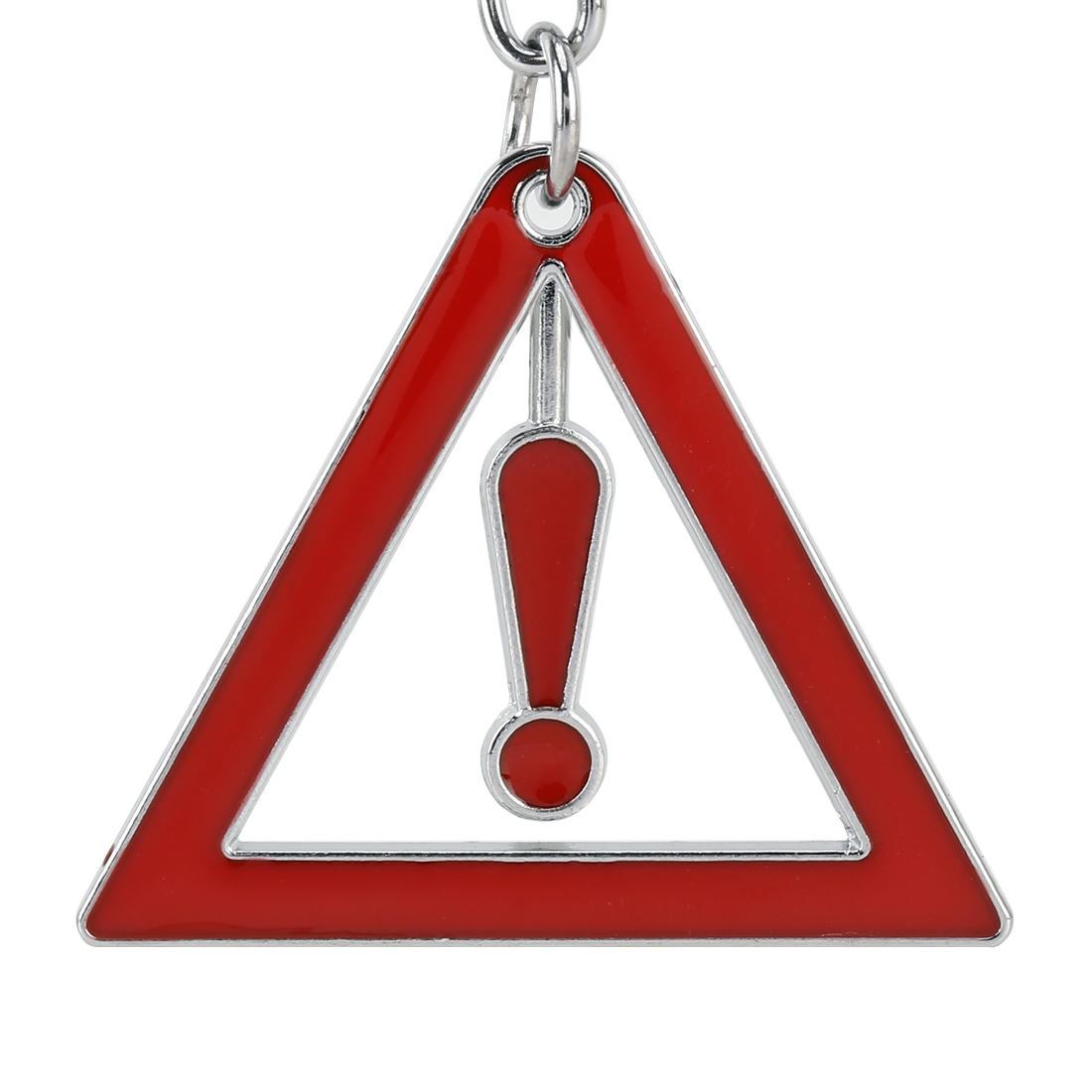 Car Caution Key Ring Metal Keychain