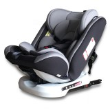 Car Forward and Reverse Installation Children Safety Seat ISOFIX Hard Interface + LATCH Interface (Black Grey)