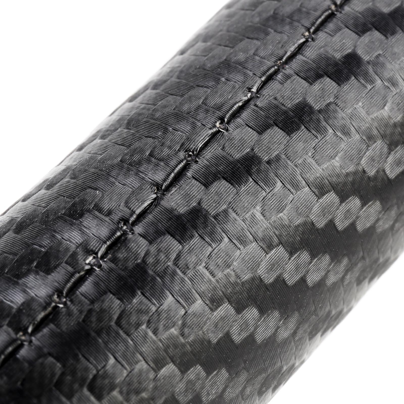 Car Carbon Fiber Leather Keychain