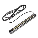 155mm DC12-24V / 2.2W Motorcycle LED Dynamic Blinker Side Lights Flowing Water Brake Lamp Turn Signal Light, Cable Length: 1m