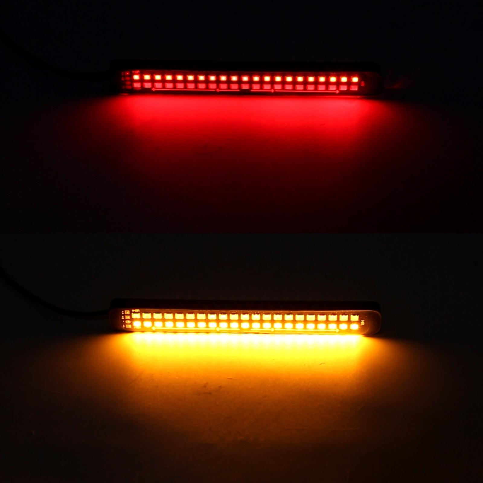 155mm DC12-24V / 2.2W Motorcycle LED Dynamic Blinker Side Lights Flowing Water Brake Lamp Turn Signal Light, Cable Length: 1m