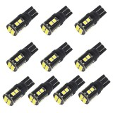 10 PCS T10/168/194 DC12V / 1W / 6000K / 60LM Car Decoding Clearance Lights with 12LEDs SMD-3030 Lamp Beads