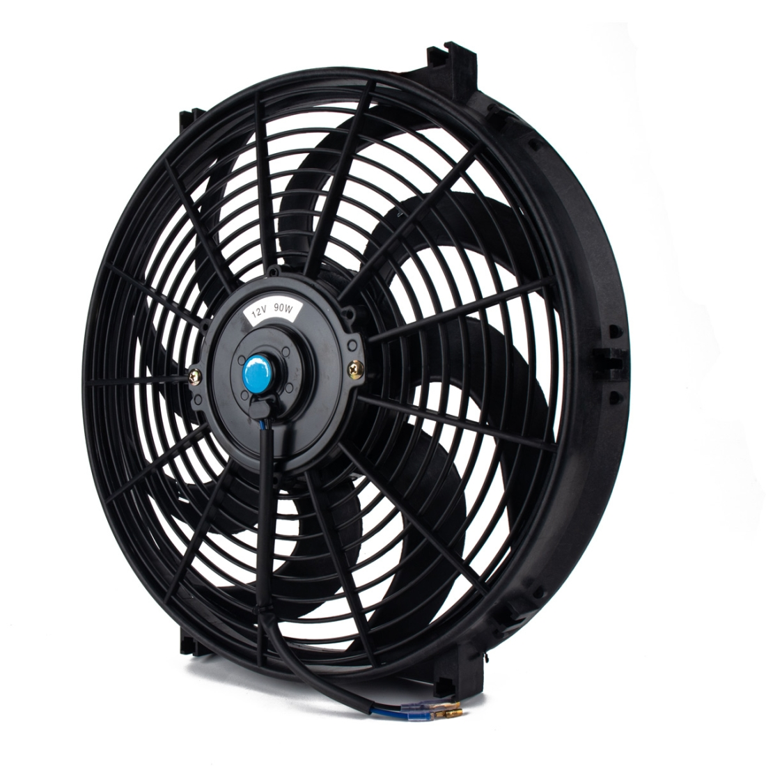 12V 90W 14 inch Car Cooling Fan High-power Modified Tank Fan Cooling Fan Powerful Fan Mini Air Conditioner with Mounting Accessories