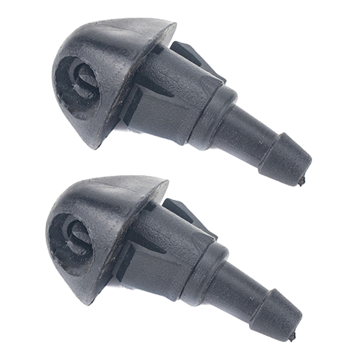 2 PCS Windshield Washer Wiper Jet Water Spray Nozzle + Hose Connector Set 76810S10A02 for Honda