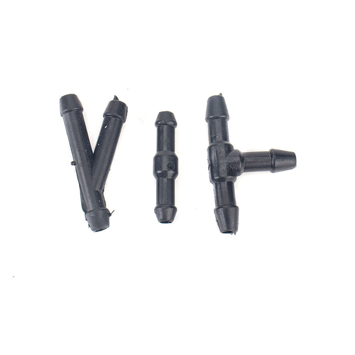 2 PCS Front Windshield Washer Wiper Jet Water Spray Nozzle + Hose Connector Set 3W7Z17603AA for Ford F-150