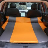 Universal Car Polyester Pongee Sleeping Mat Mattress Off-road SUV Trunk Travel Inflatable Mattress Air Bed, Size: 195 x 130 x 109cm (Orange + Grey)