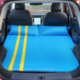 Universal Car Polyester Pongee Sleeping Mat Mattress Off-road SUV Trunk Travel Inflatable Mattress Air Bed, Size: 195 x 130 x 109cm (Blue + Yellow)
