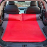Universal Car Polyester Pongee Sleeping Mat Mattress Off-road SUV Trunk Travel Inflatable Mattress Air Bed, Size: 195 x 130 x 109cm (Red + Grey)