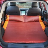 Universal Car Polyester Pongee Sleeping Mat Mattress Off-road SUV Trunk Travel Inflatable Mattress Air Bed, Size: 195 x 130 x 109cm (Brown + Yellow)