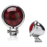 Speedpark 12V Motorcycle Modified Tail Light Brake Light for Harley (Silver+Red)