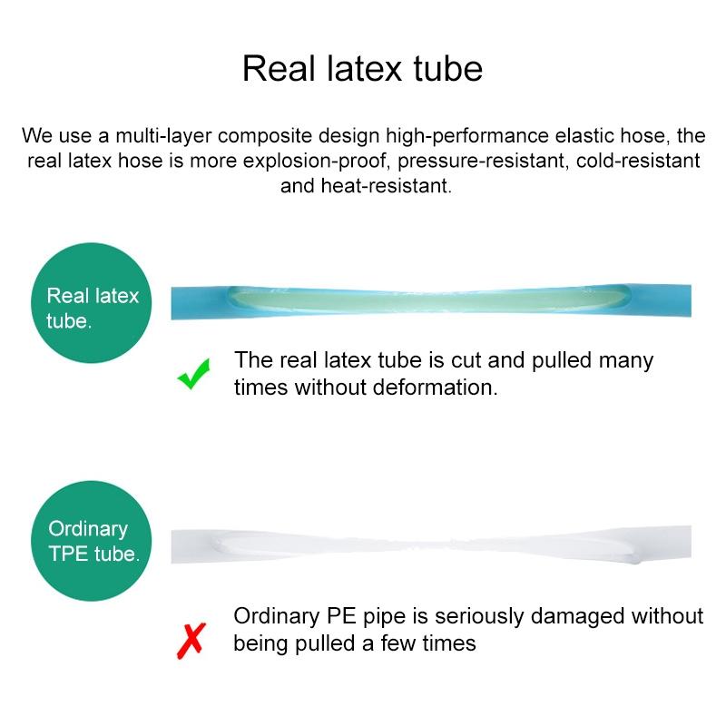 75FT 7.5m Car High Pressure Washing Tool Telescopic Water Pipe Set (Black)