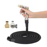 100FT 9m Car High Pressure Washing Tool Telescopic Water Pipe Set (Black)