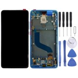 Original AMOLED Material LCD Screen and Digitizer Full Assembly with Frame for Xiaomi 9T Pro / Redmi K20 Pro / Redmi K20 (Blue)