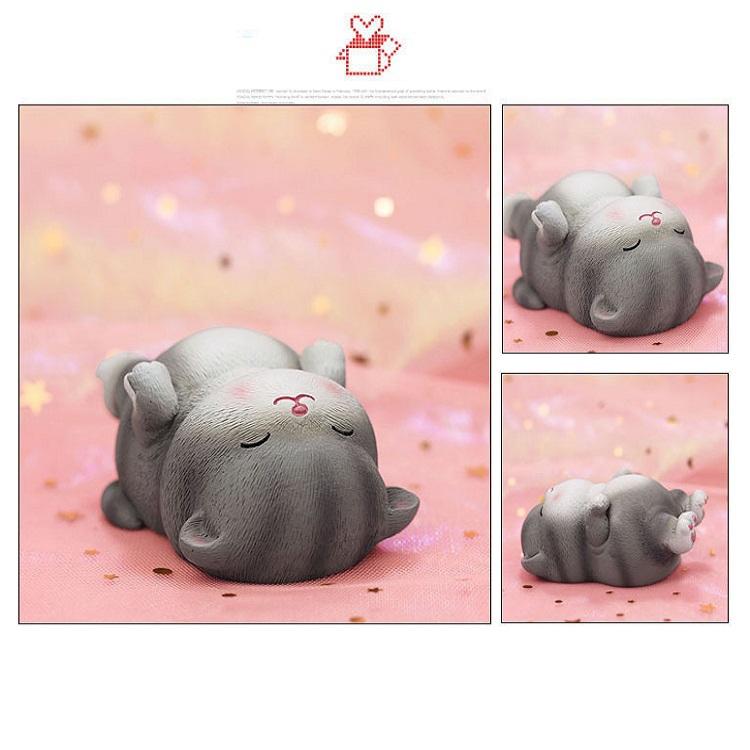 Creative Cute Kitten Car Resin Ornaments Gift Box (Pink gift box (5 pieces))