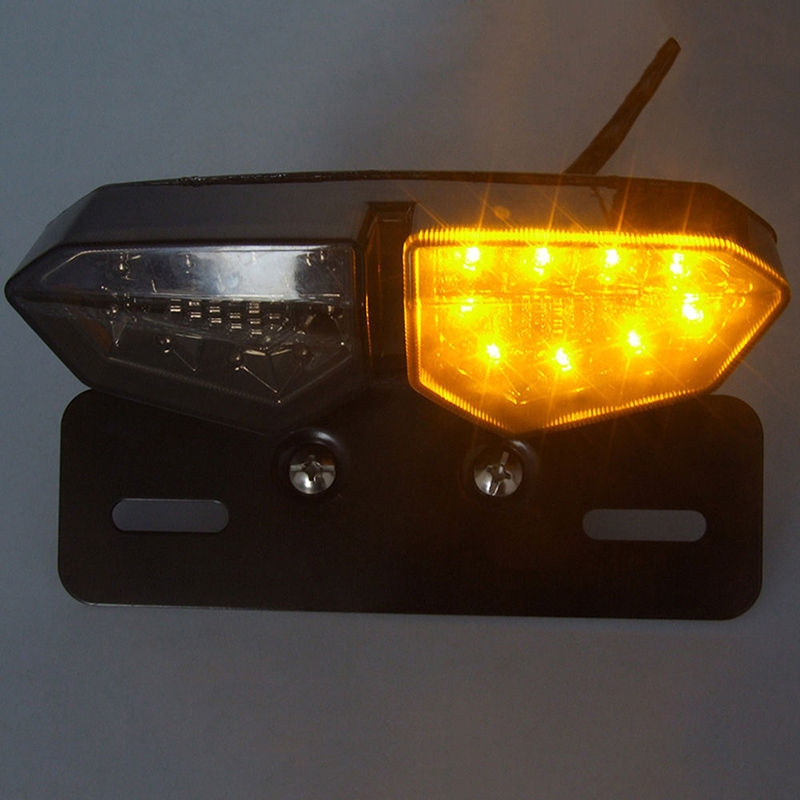 Motorcycle Multi-function Modified LED Tail Light With Brake And Steering Integrated Light