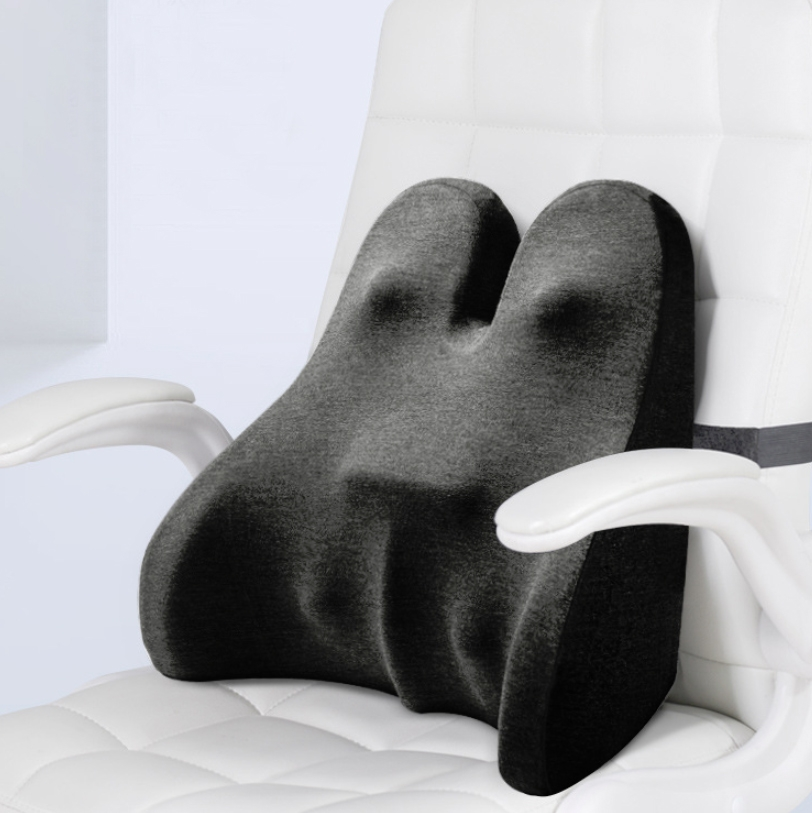 Car Seat Lumbar Support Cushion Memory Foam Office Lumbar Cushion, Size: Bandage (Dark Gray)