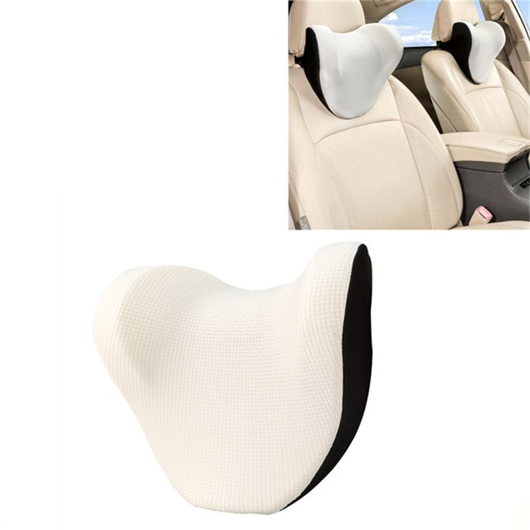 Car Headrest And Neck Pillow Ice Silk Breathable Space Memory Foam Pillow (Gray)