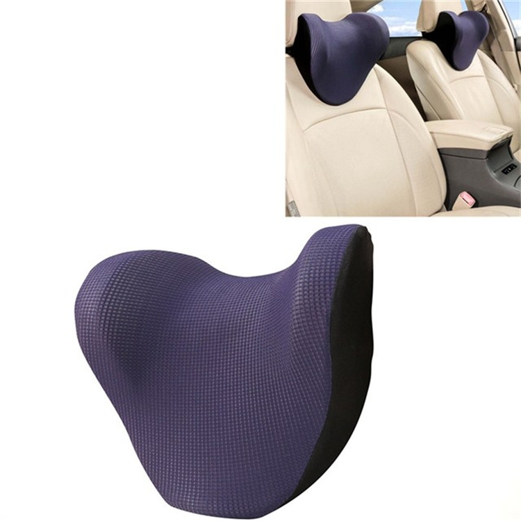 Car Headrest And Neck Pillow Ice Silk Breathable Space Memory Foam Pillow (Blue)
