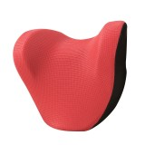 Car Headrest And Neck Pillow Ice Silk Breathable Space Memory Foam Pillow (Red)