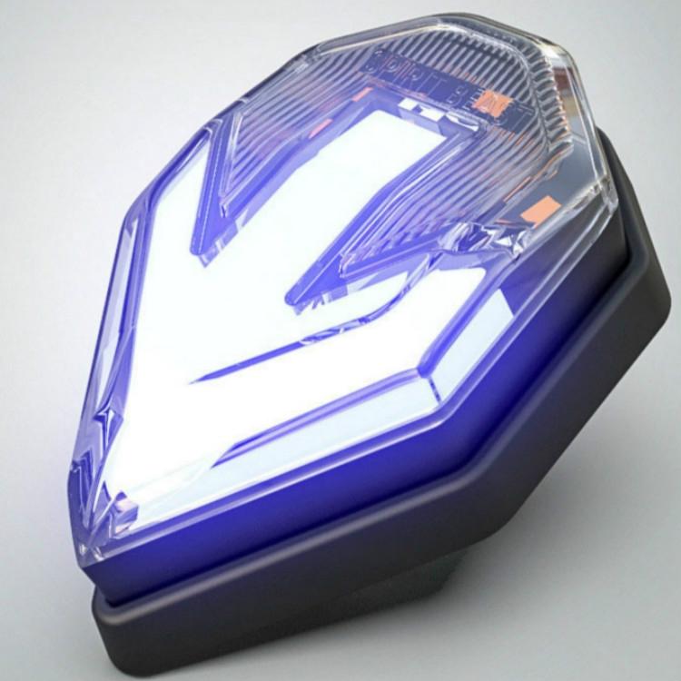 2 PCS Mini Light Guide Arrow Side Light Motorcycle Turn Signal (Yellow Blue)