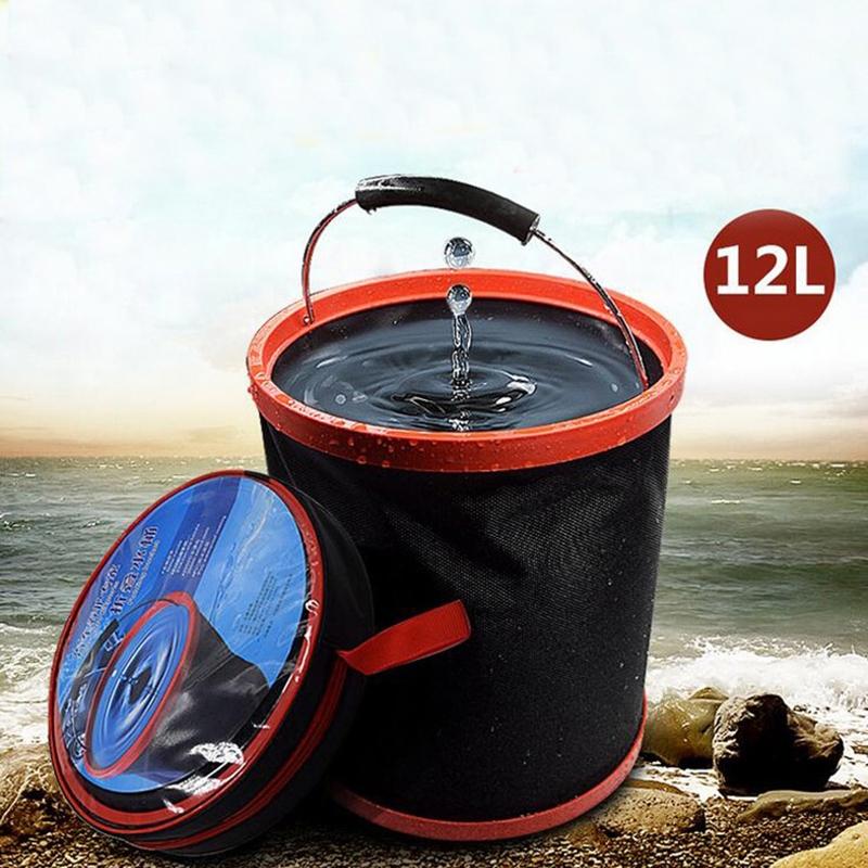 12L Car Washing Folding Telescopic Bucket Car Household Multifunctional Outdoor Portable Bucket