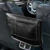 Car Seat Storage Net Pocket Car Storage Bag Multi-Function Suspended Storage Bag, Color: Simple Black White Line