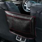 Car Seat Storage Net Pocket Car Storage Bag Multi-Function Suspended Storage Bag, Color: Simple Black Red Line