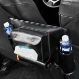 Car Seat Storage Net Pocket Car Storage Bag Multi-Function Suspended Storage Bag, Color: Upgrade Black Red Line