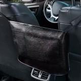 Car Seat Storage Net Pocket Car Storage Bag Multi-Function Suspended Storage Bag, Color: Simple Black of Black Line