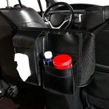 Car Seat Storage Net Pocket Car Storage Bag Multi-Function Suspended Storage Bag, Color: Thickening Upgrade Black]