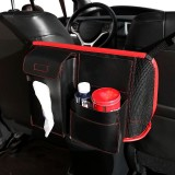 Car Seat Storage Net Pocket Car Storage Bag Multi-Function Suspended Storage Bag, Color: Thickening upgrade model [red]