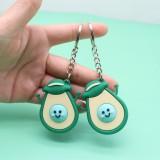 15 PCS Avocado Keychain Schoolbag Coin Purse Silicone Cute Pendant (Happy Avocado )