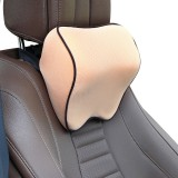 Car Headrest Pillow Neck Pillow Car Memory Foam Cervical Pillow Interior Supplies (Beige)