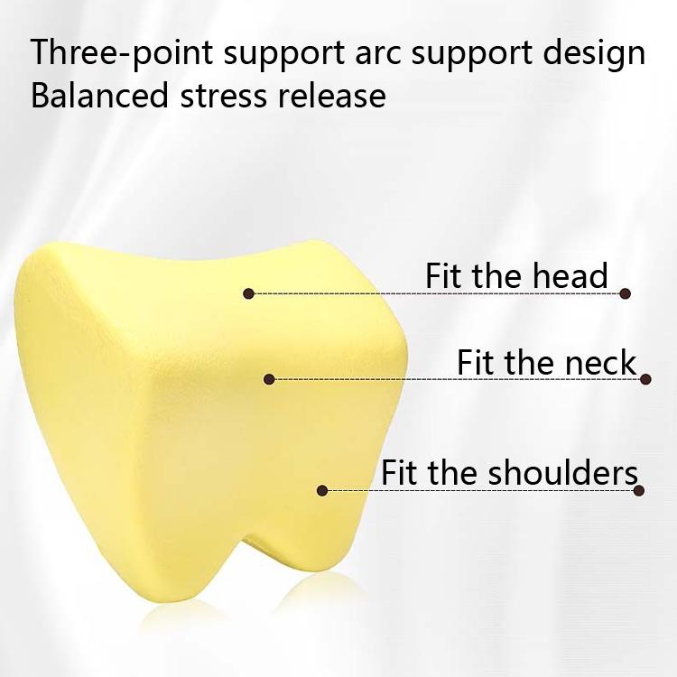 Car Headrest Pillow Neck Pillow Car Memory Foam Cervical Pillow Interior Supplies (Black Red Edge)