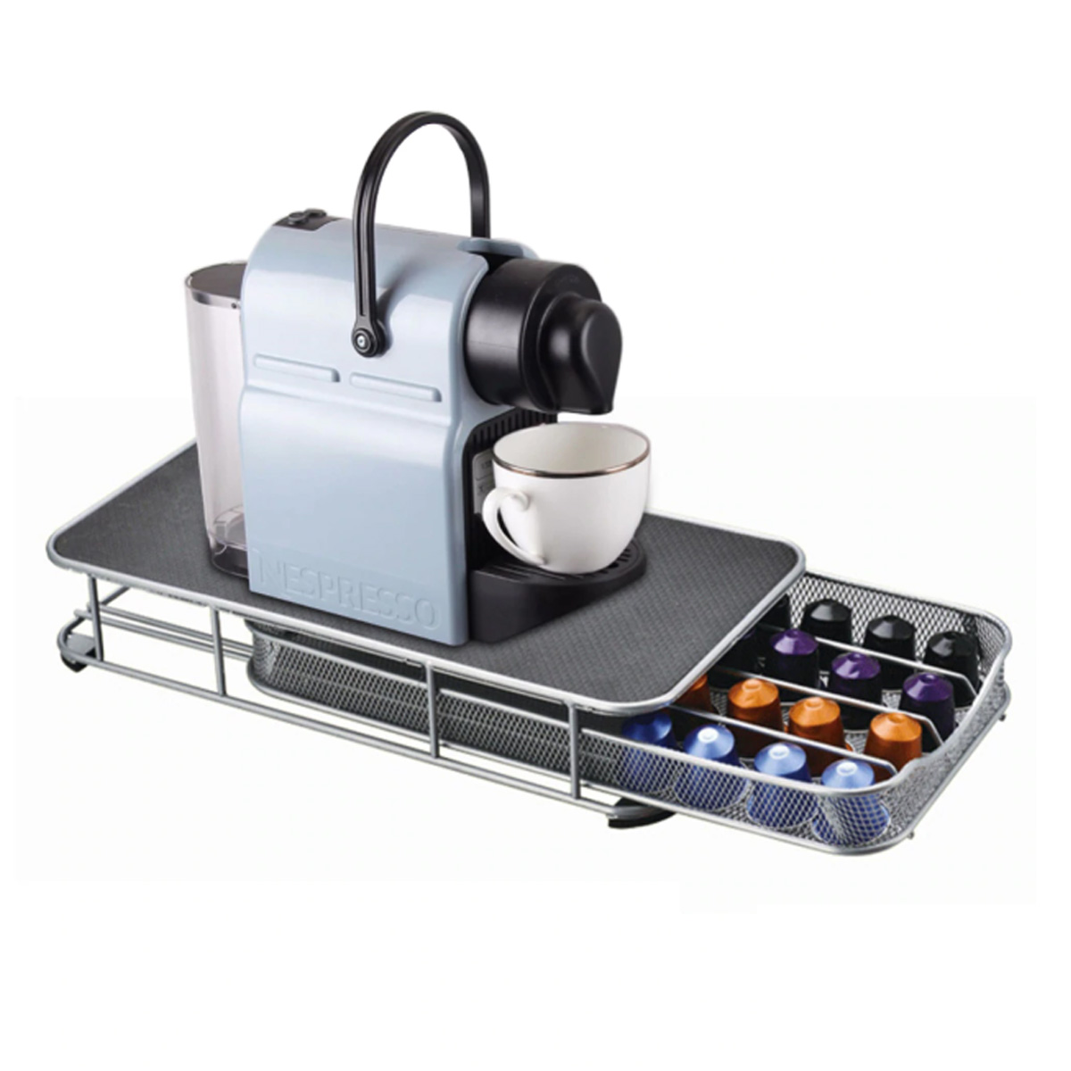 Under the Brewer Coffee Capsule Storage Drawer Holder Organizer 40 Capsule for K-Cup Coffee Capsule