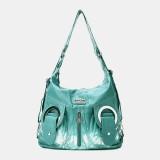 Women Tie Dye Multi-carry Waterproof Large Capacity Crossbody Bag Shoulder Bag Handbag Backpack
