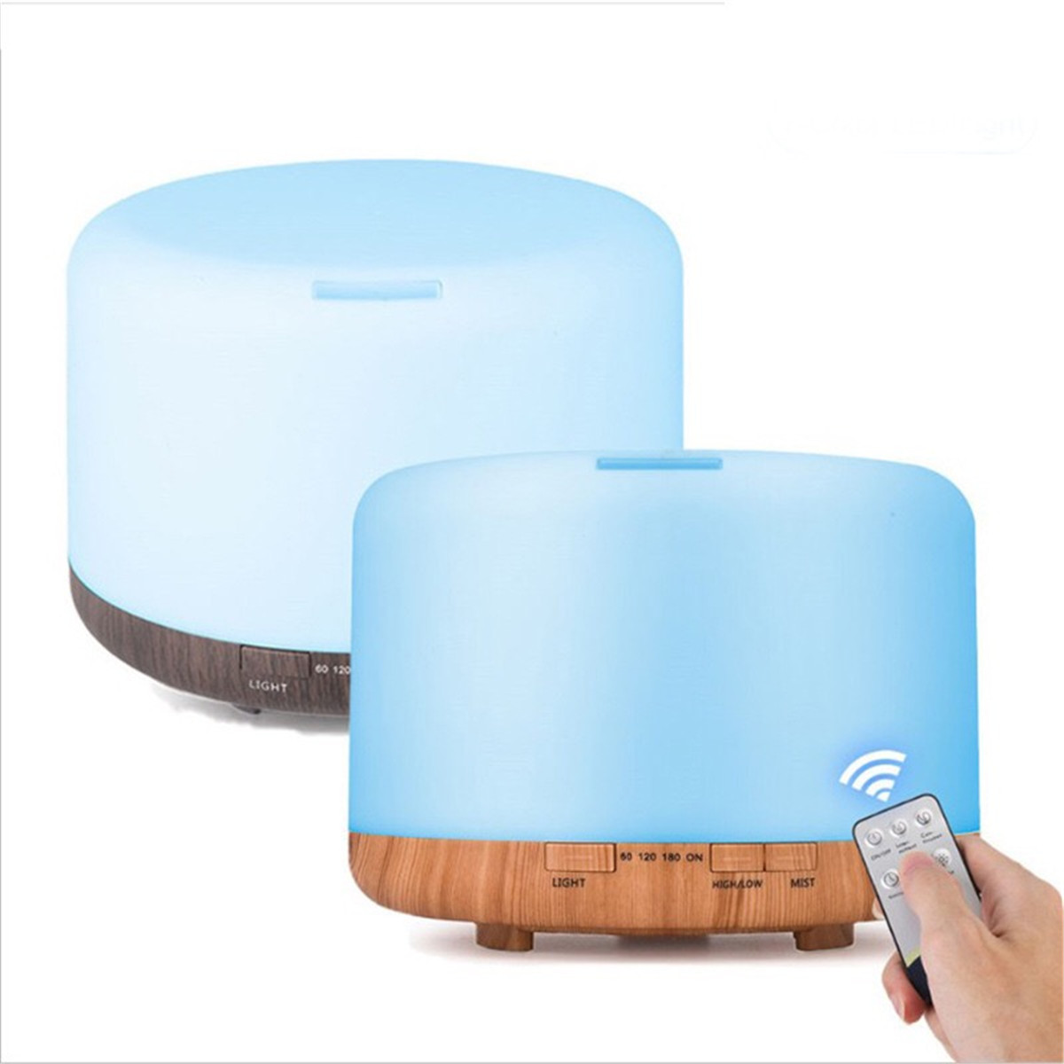 AC100-240/DC24V 500ML LED Ultrasonic Humidifier Essential Oil Diffuser Aromatherapy Fresh Air