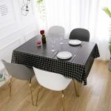 1 PCS Table Cloth Linen Tablecloth Dust proof Rectangle Table Cover Slip Resistant Simple Plaid Table Cover 140x220cm