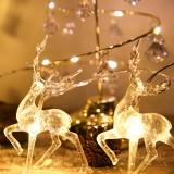2020 Christmas Elk String Light LED Christmas Decor for Home Hanging Garland Christmas Tree Decor Ornament for Navidad Xmas Gift New Year