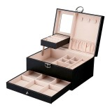 Leather Jewelry Watch Storage Box Ring Jewelry Box Multi-layer Large Capacity Jewelry Storage Box