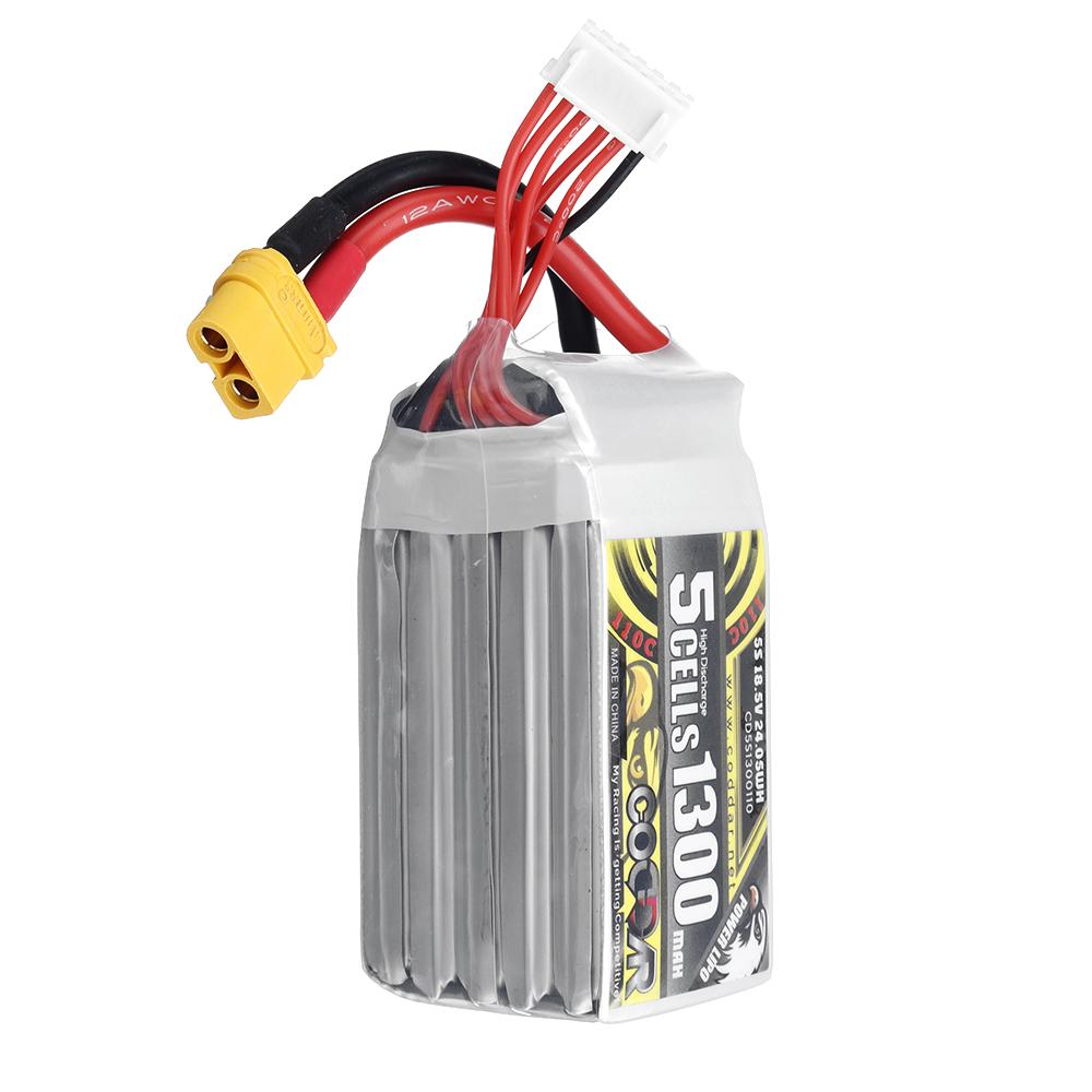 CODDAR 18.5V 550mAh 90C 5S XT60 Plug High Discharge Lipo Battery for RC Drone